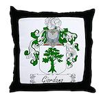 Giordano Family Crest Throw Pillow