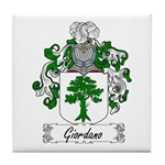 Giordano Family Crest Tile Coaster