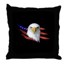 Anerican Eagle Throw Pillow