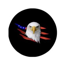 "Anerican Eagle 3.5"" Button (100 pack)"