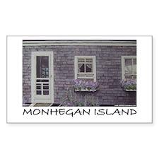 Monhegan Island Parsonage Rectangle Decal