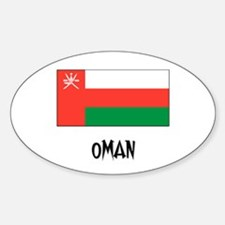 Oman Flag Oval Decal