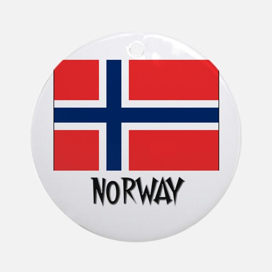 Norway Flag Ornament (Round)