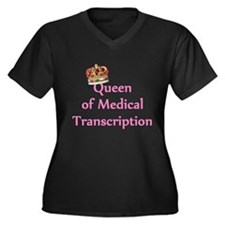 Medical Transcription Women's Plus Size V-Neck Dar