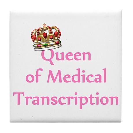 Medical Transcription Tile Coaster