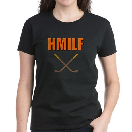 HMILF Hockey Mom I'd Like To... Women's Dark T-Shi