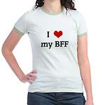 I Love my BFF Jr. Ringer T-Shirt