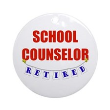 Retired School Counselor Ornament (Round)
