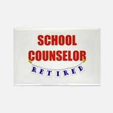 Retired School Counselor Rectangle Magnet