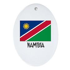 Namibia Flag Oval Ornament