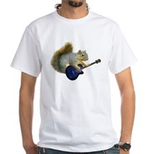 Squirrel with Blue Guitar Shirt
