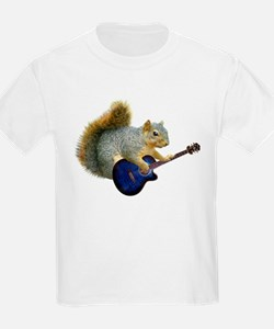 Squirrel with Blue Guitar T-Shirt