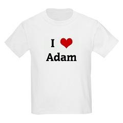 I Love Adam Kids Light T-Shirt
