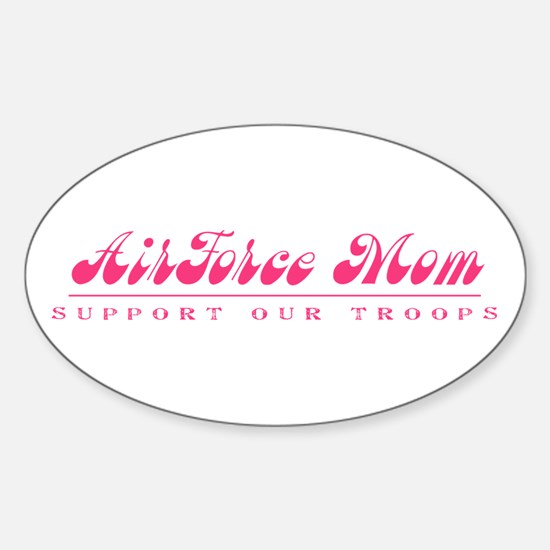 Air Force Mom - Girly Style Oval Decal