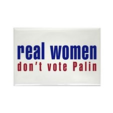 Real Women/Don't Vote Palin Rectangle Magnet