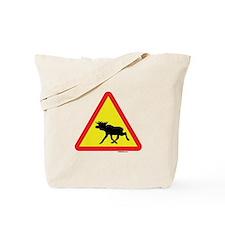 Moose Crossing Tote Bag