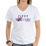 Fun With Zippy Women's V-Neck T-Shirt