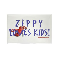 Fun With Zippy Rectangle Magnet