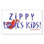 Fun With Zippy Rectangle Sticker