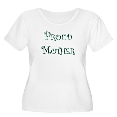 """Proud Mum"" Women's Plus Size Scoop Neck T-Shirt"