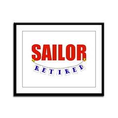Retired Sailor Framed Panel Print