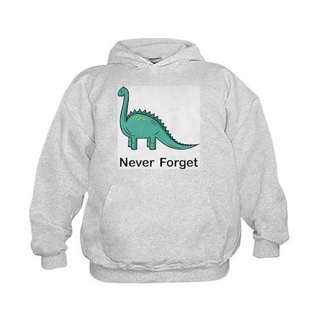 Dinosaur Never Forget Kids Hoodie