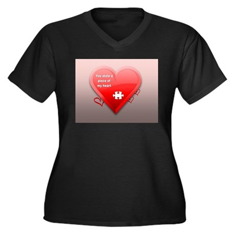 STOLE A PIECE OF MY HEART Plus Size T-Shirt