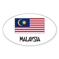 Malaysia Flag Oval Decal