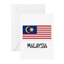 Malaysia Flag Greeting Cards (Pk of 10)