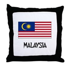 Malaysia Flag Throw Pillow