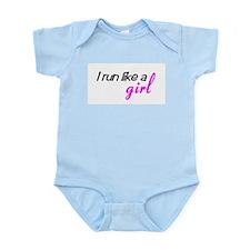 Cute Run like a girl Infant Bodysuit