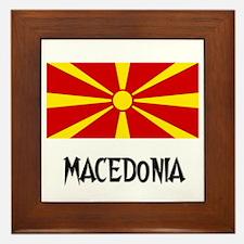 Macedonia Flag Framed Tile