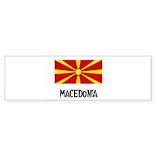 Macedonia Flag Bumper Bumper Sticker