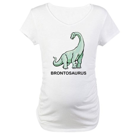 Brontosaurus Maternity T-Shirt