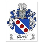 Giuntini Family Crest Small Poster