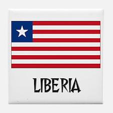 Liberia Flag Tile Coaster