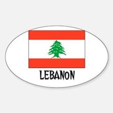 Lebanon Flag Oval Decal