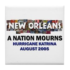 A Nation Mourns Tile Coaster