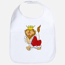 King Lion Cartoon Bib