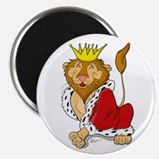 King Lion Cartoon Magnet