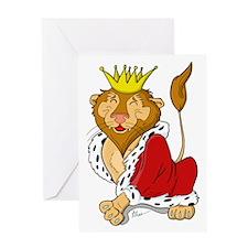 King Lion Cartoon Greeting Card