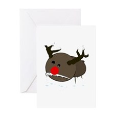 christmas misfits rudy Greeting Card