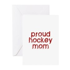 Proud Hockey Mom Greeting Cards (Pk of 10)