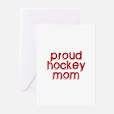 Proud Hockey Mom Greeting Cards (Pk of 10)