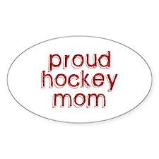 Proud Hockey Mom Oval Decal