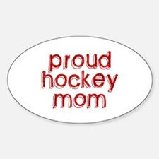 Proud Hockey Mom Oval Decal