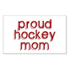 Proud Hockey Mom Rectangle Decal