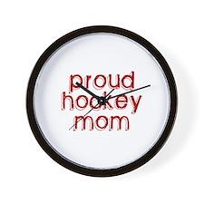 Proud Hockey Mom Wall Clock