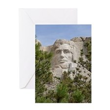 Rushmore Abe Greeting Card