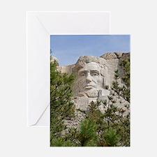 Rushmore Abe Greeting Card